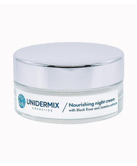 Nourishing night cream with Black Rose and Jasmine extracts