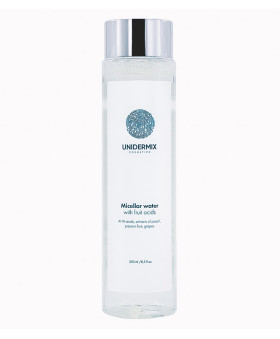 Unidermix face cosmetics: Micellar water with fruit acids